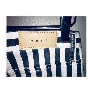 MNML Jeans - MNML BLACK AND WHITE STRIPED JEANS WITH ZIP ANKLE